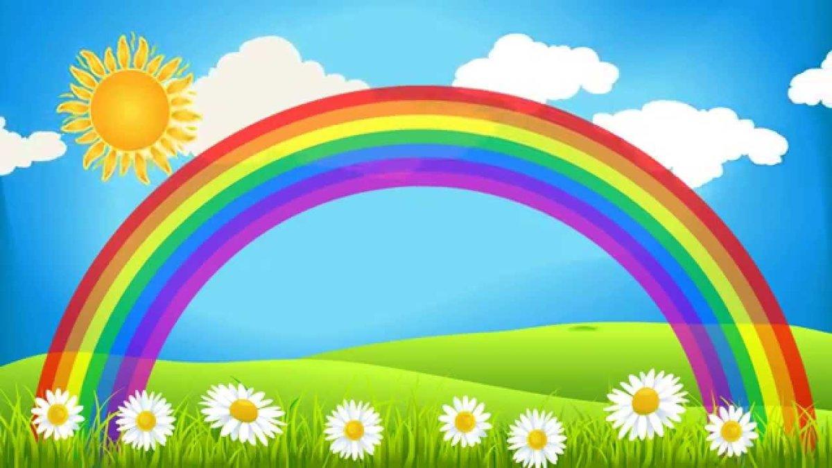 Анимационные картинки солнышка и радуги