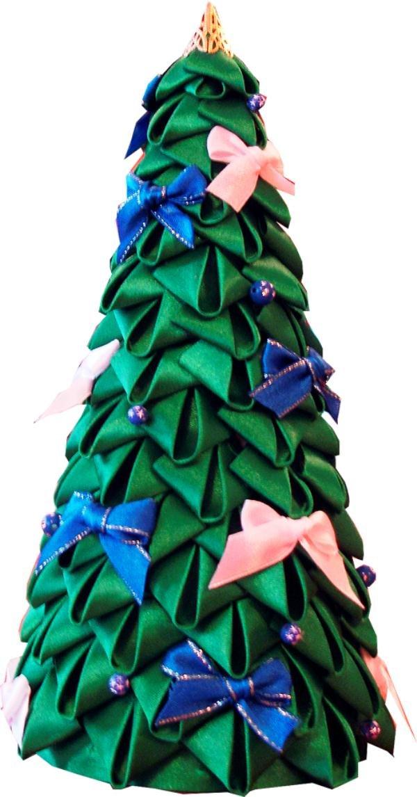 даже елка из атла ных лент модели