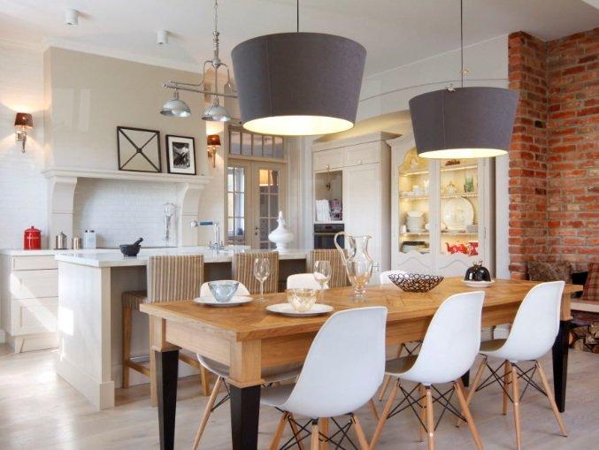 Пример оформления столовой в скандинавском стиле