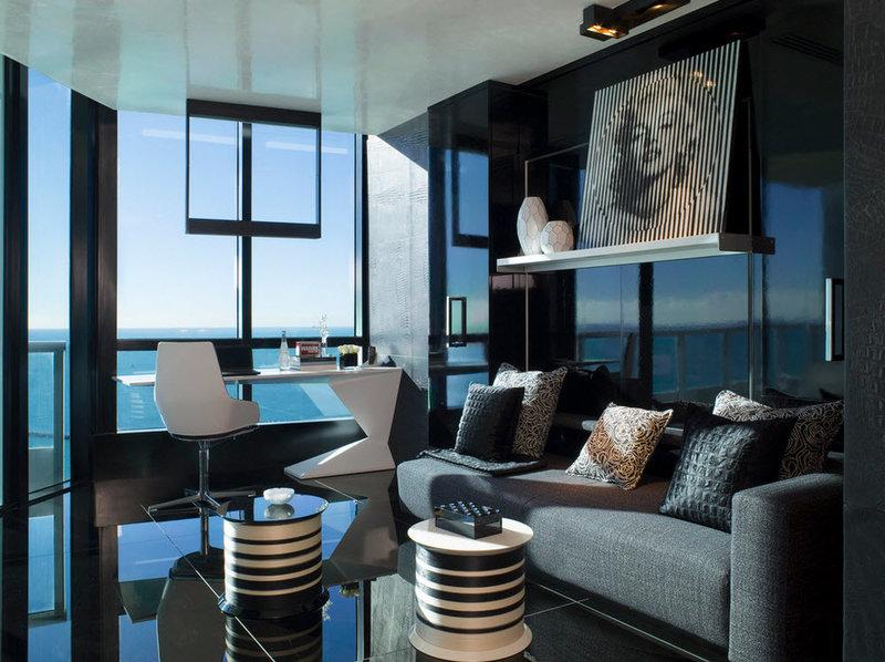 Красивый, эксклюзивные дизайн домашнего кабинета в стиле арт деко: