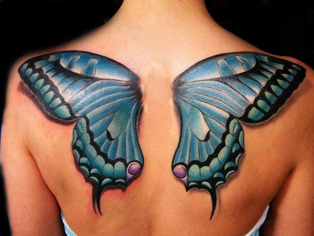 Тату «Крылья бабочки».