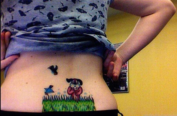 Татуировки на пояснице.  Другое