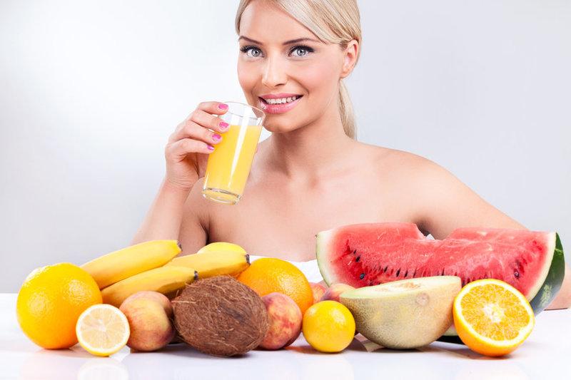 здоровые привычки: предпочитая fruits♥ вектор