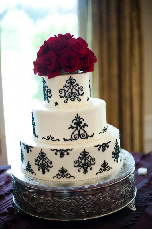 Damask Wedding Cake | Weddingbee Photo Gallery