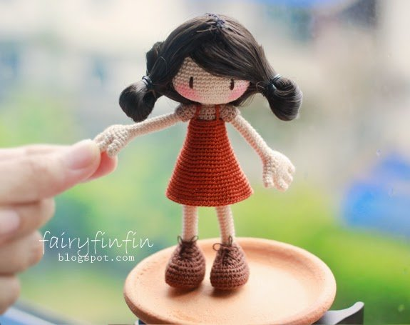 FairyFinFin: Crochet Girl doll, girl doll, amigurumi doll, cute doll, cute girl doll, cute crochet cute amigurumi, storytelling girl doll, cute gift, gift baby, gift children, gift mom, baby toy, children toy, toy bed