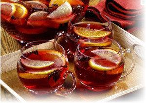 Горячие коктейли с фруктами