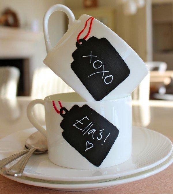 Идея для декорирования чашки своими руками