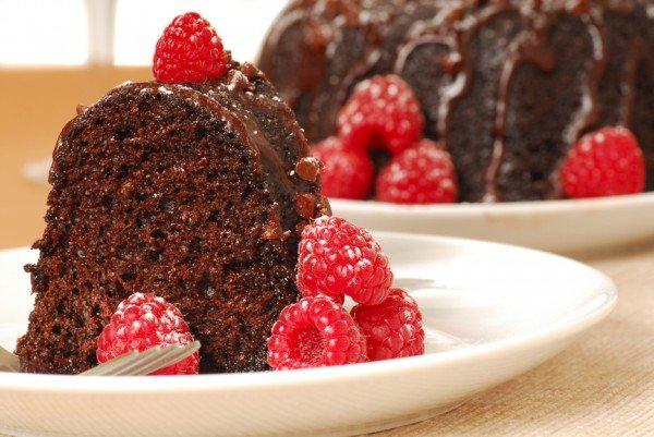 Пирог с шоколадной глазурью