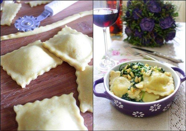 Равиоли с грибами и сыром » Кулинарные рецепты