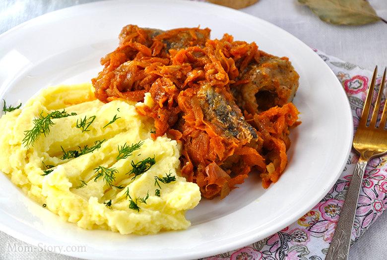 Тушеная рыба с морковью рецепт с фото
