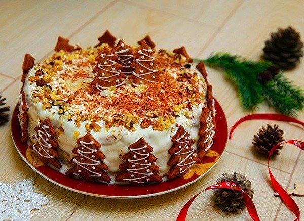 Шоколадно-ореховый торт1