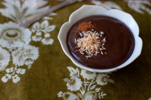 Шоколадный пудинг с кокосовым молоком
