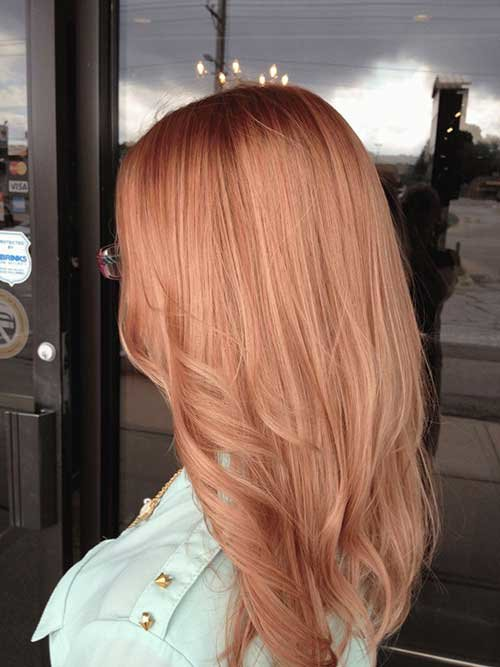 Strawberry Rose Hair Color