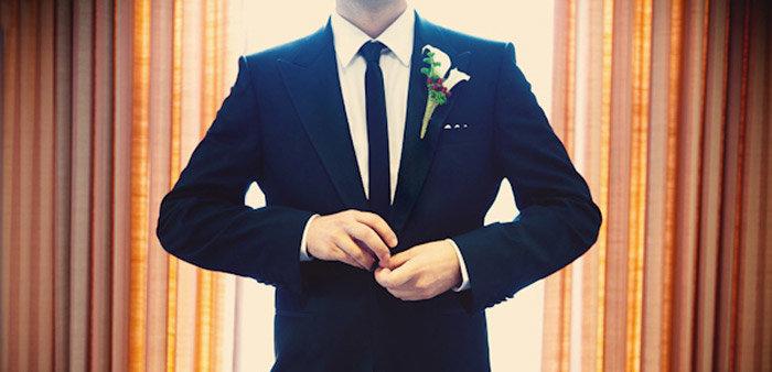 Длина и фасон галстука на свадьбу