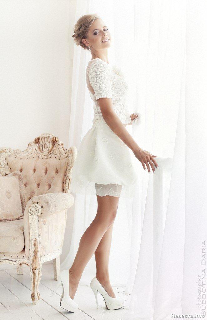 короткое свадебное платье -кружевное, Свадебные платья, Образ невесты