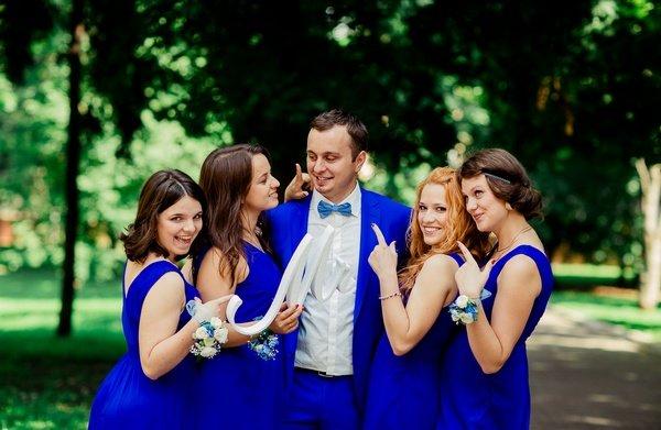 Синяя свадьба: секреты оформления. Фото с сайта wed.msk.ru
