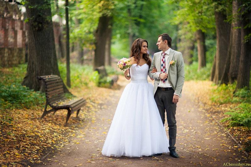 свадебная прогулка в парке
