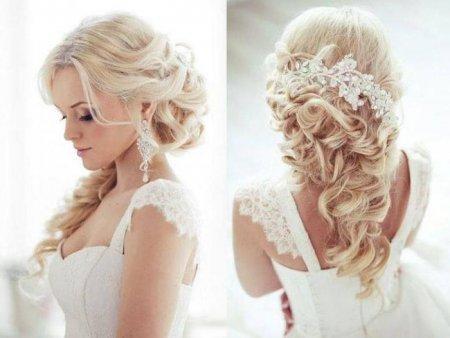 Весільні зачіски з накладними волоссям