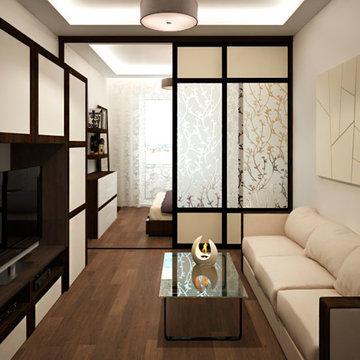 дизайн комнаты 18 кв м спальни гостиной карточка пользователя