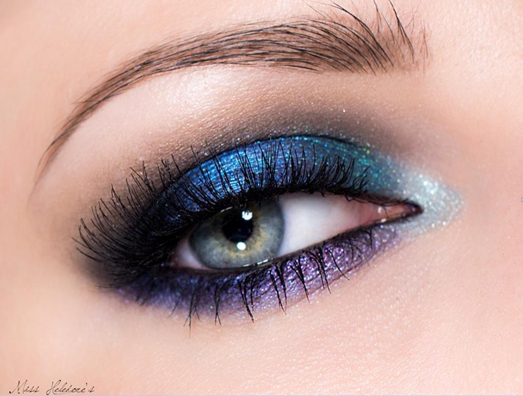 макияж синего цвета фото портале