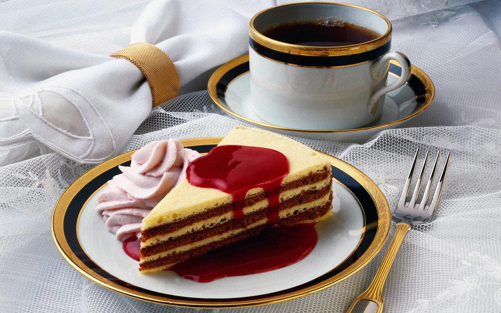 Гифка доброе утро с кофе и пирожными, летием девочке