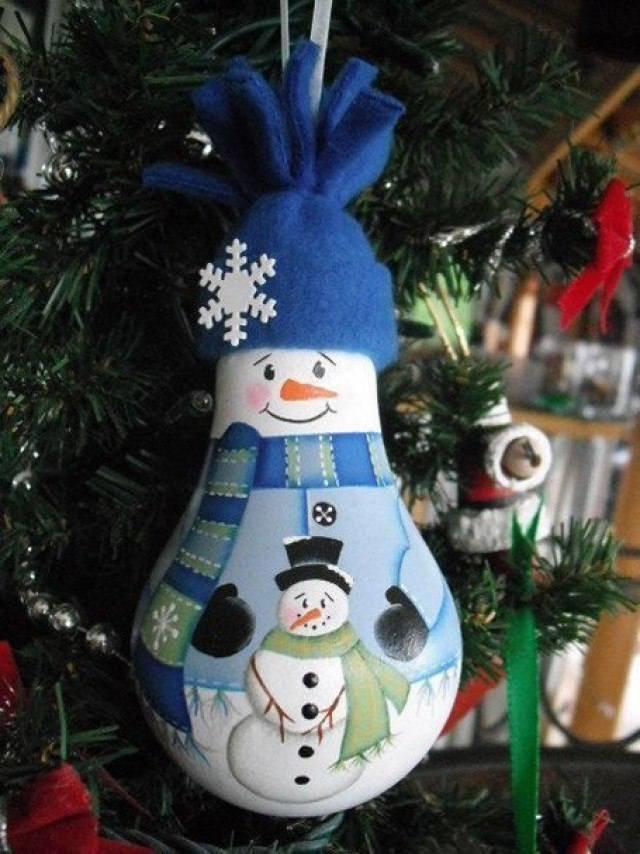 Игрушки на елку своими руками из лампочек  Елочные игрушки своими руками - Сайт happynewyear2013!, украшаем ванную своими руками фото, детские качели фото своими руками