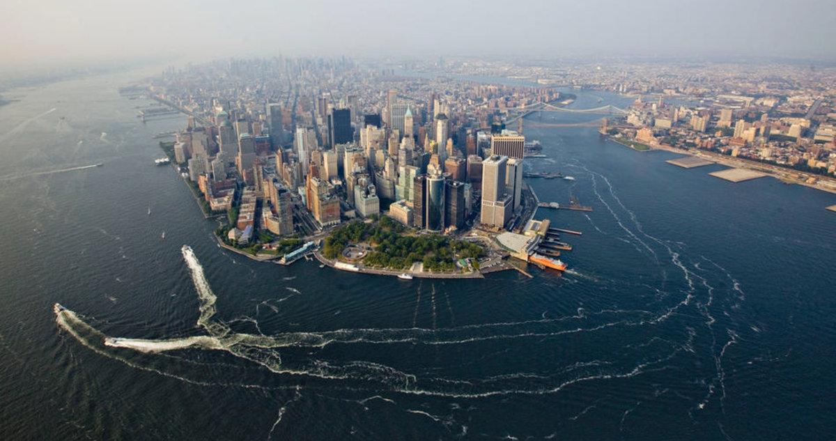 Нью-йорк с высоты птичьего полета фото