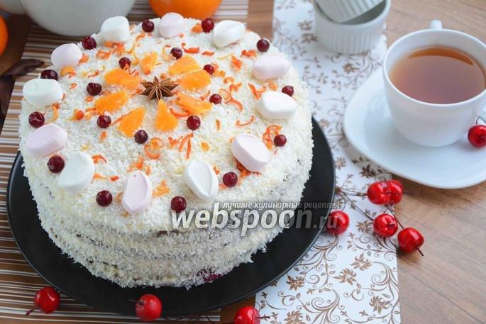 Фото - рецепт зимний торт