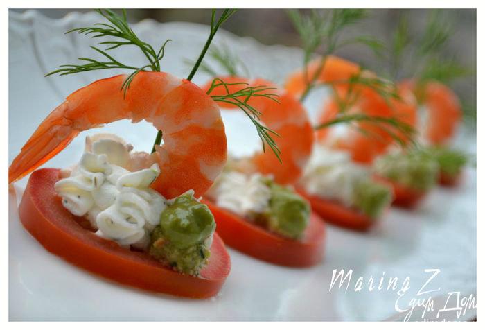 Закуски из креветками рецепты фото