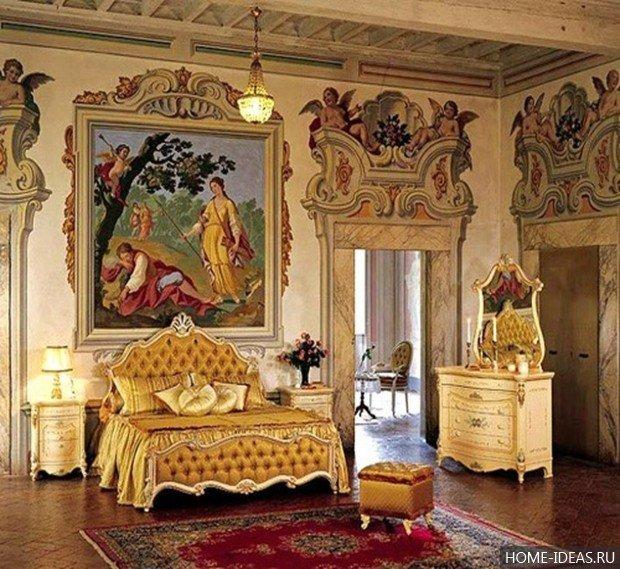 Песочные стены в стиле барокко- идеальный фон для фресок и росписи