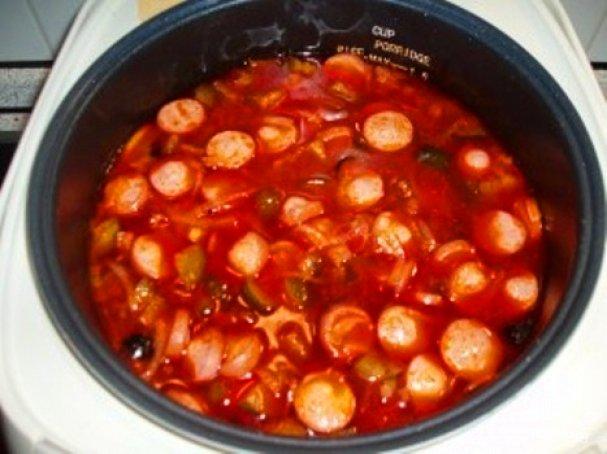 солянка с сосисками в мультиварке рецепт с фото пошаговый