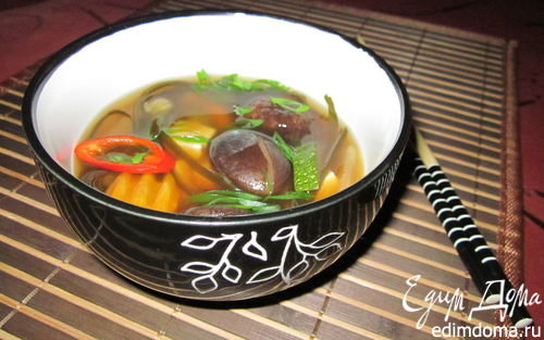 суп из морской капусты и тофу