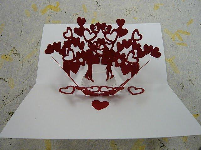 Открытка для, объемные открытки святой валентин