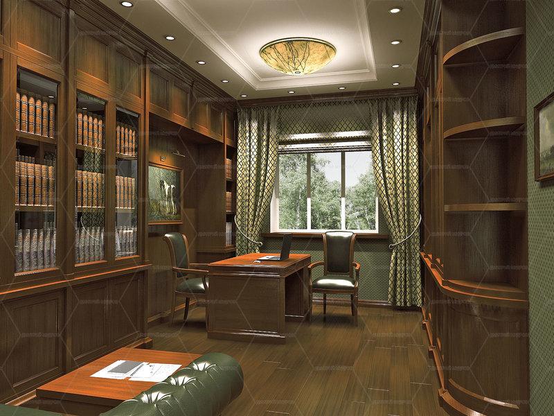 классицизв стиле домашнего кабинета