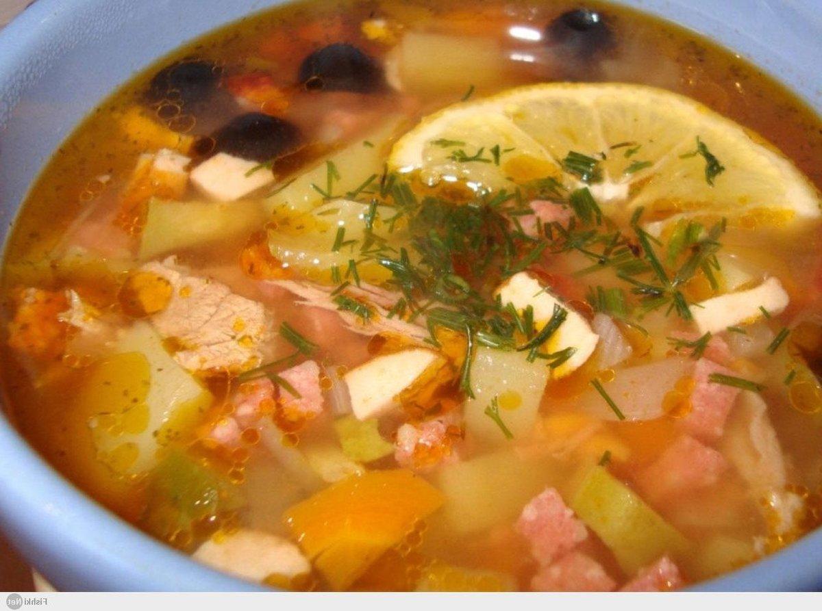 солянка сборная с сосисками классическая рецепт с фото пошаговый