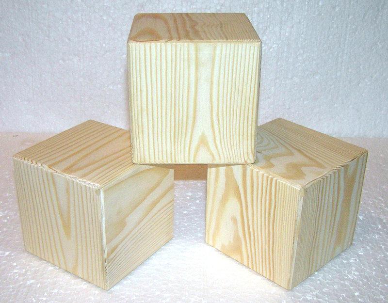 Кубики из дерева своими руками