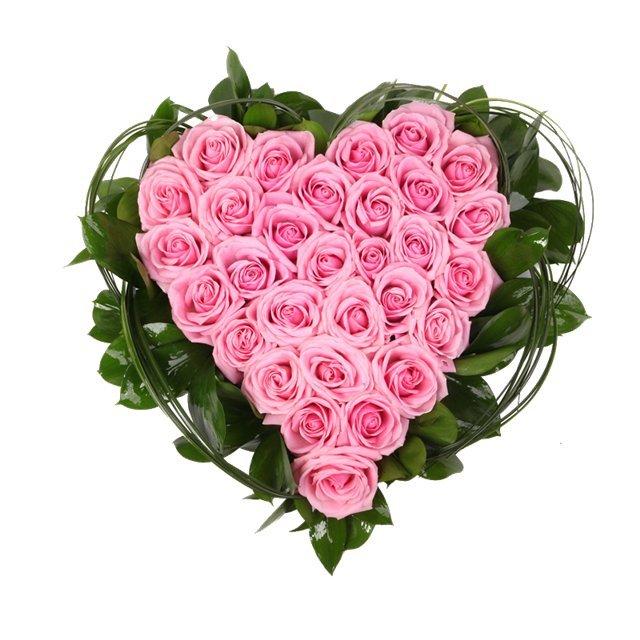 Букет, оранжевый букеты из роз в виде сердца фото