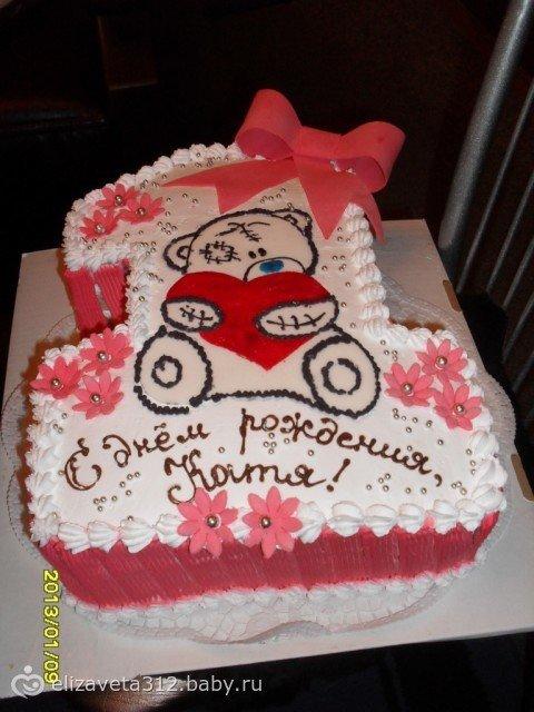 Тортики для девочек на годик своими руками мастика