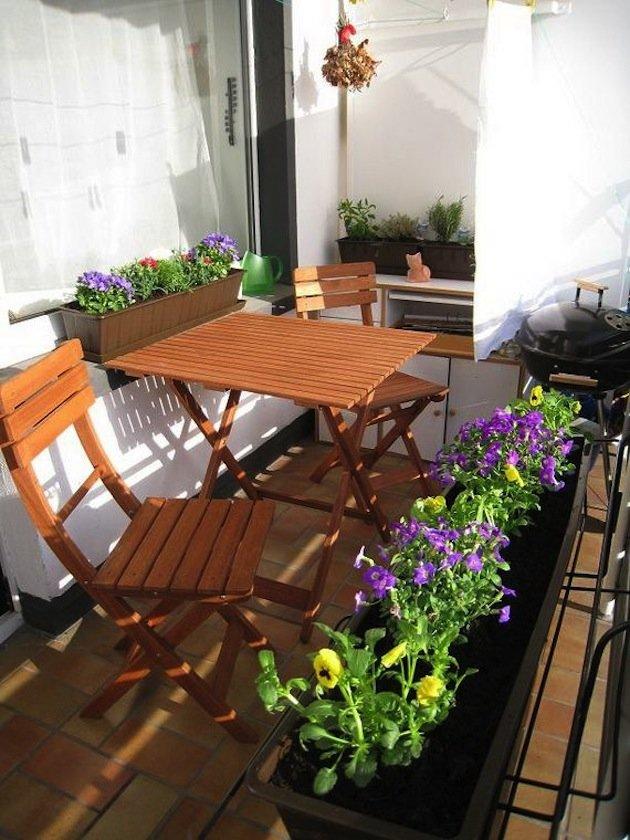 """Как красиво оформить маленький балкон своими силами"""" - карто."""