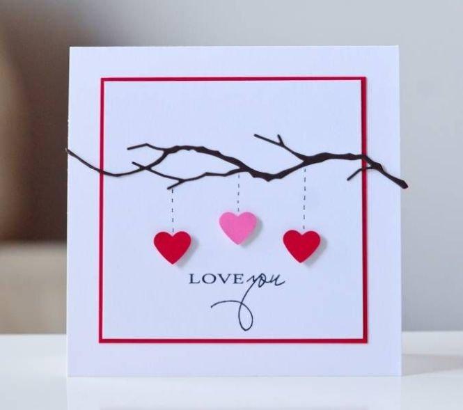 как сделать открытку я тебя люблю