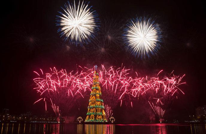 Так выглядит Новый год и Рождество в Рио де Жанейро