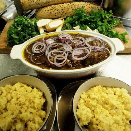 Баранина тушеная с тыквой - восточное блюдо