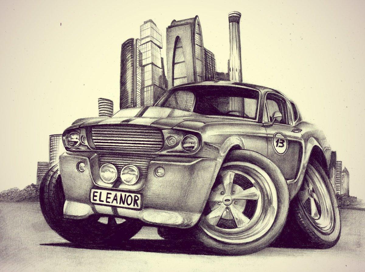 Рисунки машин смешные