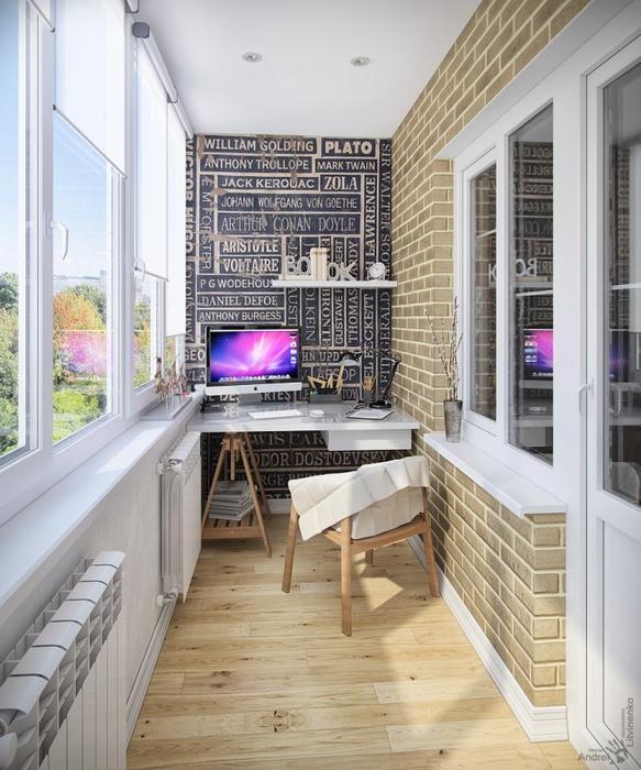 идеи оформления балкона фото