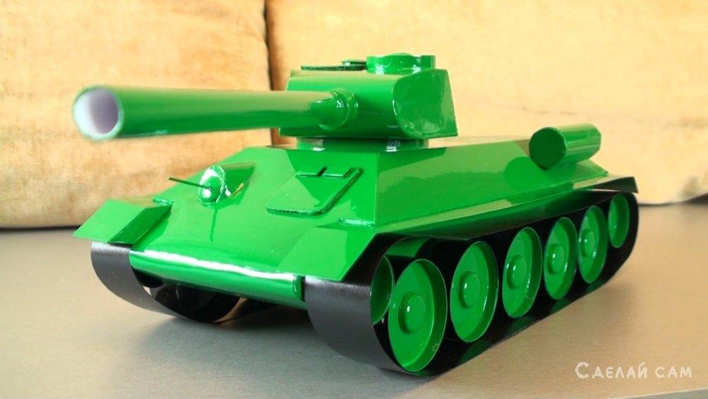 Бумажная модель Т-34-85 своими руками