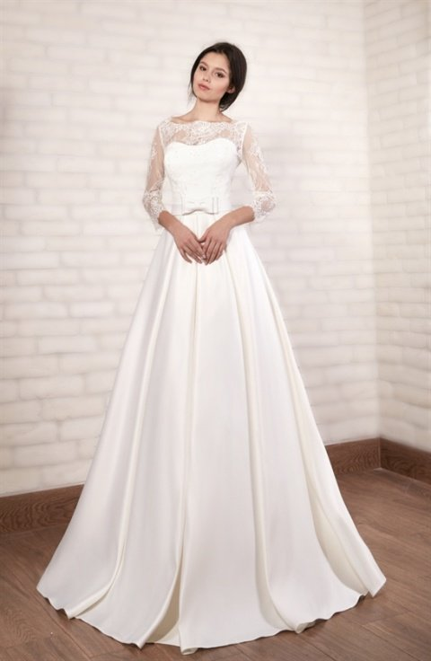 Свадебное атласное платье цена