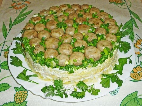 Фото-рецепты салат-перевертыш