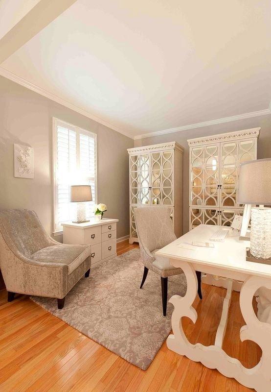 Дизайн домашнего кабинета - В бежевом цвете