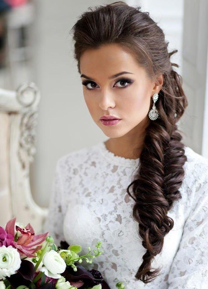 Причёски свадебные косы
