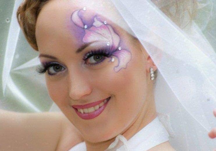 недавно наши мейкап свадебный со стразами фото для